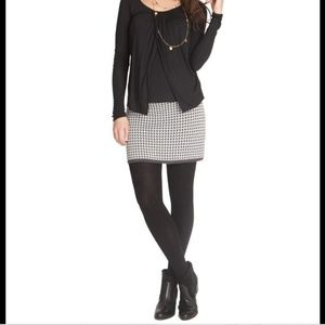 Seraphine maternity knit houndstooth skirt